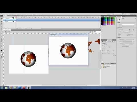 Spinning download flash globe