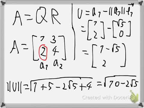 Numerical QR factorization with Householder matrix Example 3
