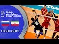 RUSSIA Vs IRAN Highlights Men Volleyball Olympic Qualification 2019