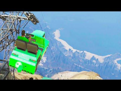 Crazy Airtug Stunts (GTA 5 Funny Moments)