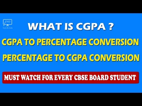 CGPA | Convert CGPA to Percentage and Percentage to CGPA - For CBSE Board Students - In Hindi