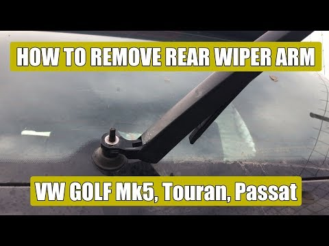 How to remove / replace rear wiper arm VW Golf Mk5, Mk5 Plus, Passat, Touran, T4 in 5 steps