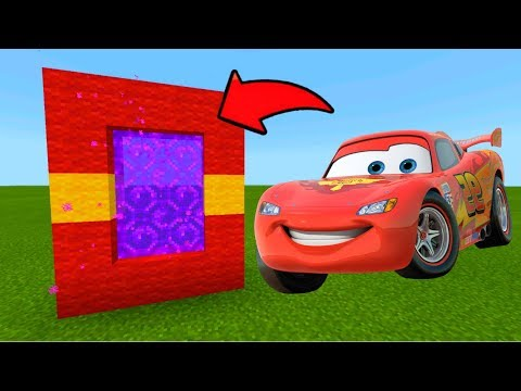 Minecraft Pe How To Make A Portal To The Cars Dimension - Mcpe Portal To The Cars!!!