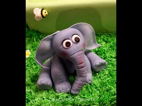 Cake decorating - How to make an elephant cake topper