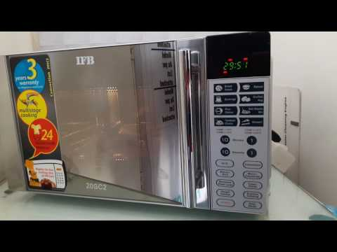 HOW TO USE IFB 20 liter convection microwave oven model 20sc2 full demo  & function