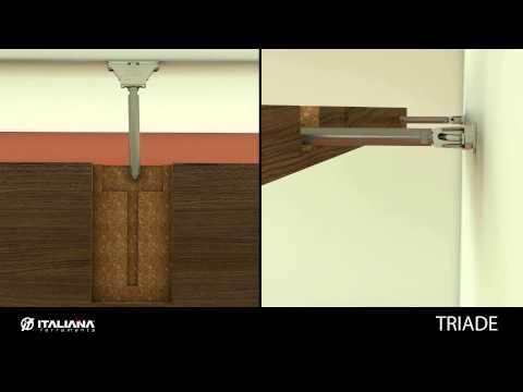 TRIADE Concealed Shelf Support / Shelving System - Italiana Ferramenta