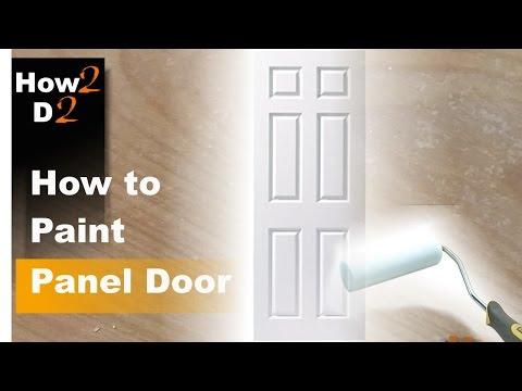 How to paint panel door. Painting interior door with brush and roller