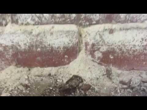 Efflorescence on Motor and Brick Basement