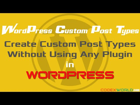 How to Create Custom Post Types in WordPress without using Plugin