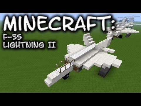 Minecraft: F-35 Lightning II Tutorial