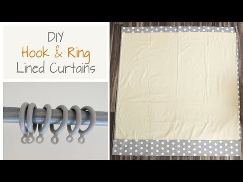 How To Make Lined Curtains   Simple Sewing Instructions for Hook & Ring Curtains   Beginners