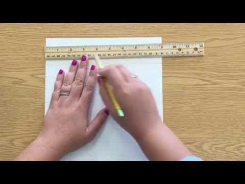 How to Draw a 1-inch Grid