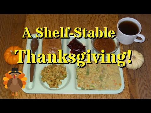 A Shelf Stable Thanksgiving! Featuring Freeze-Dried Turkey Tetrazzini