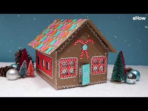 DIY Gingerbread House Gift Wrap