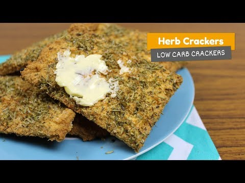 HERB CRACKERS 🍃 • Low Carb Crackers #4