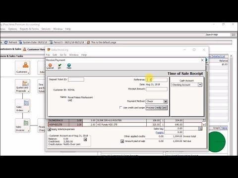 How to Apply and Print Cash Sales Invoice to a Sales Order in Sage Peachtree Quantum 2010