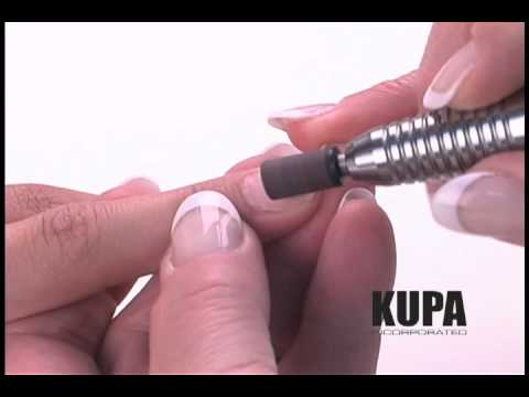 KUPA Inc. Presents How-to Use Sanding Bands To Shape Acrylic and Gel