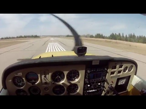 LANDING A SMALL PLANE!!! **with cockpit audio** (Cessna 172)