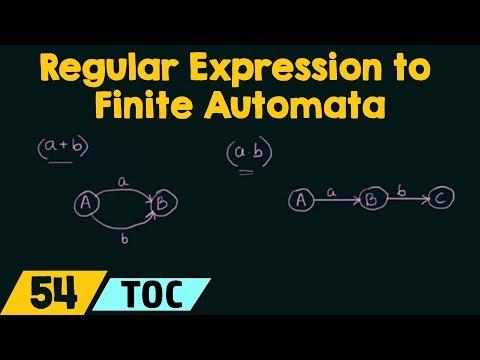Conversion of Regular Expression to Finite Automata