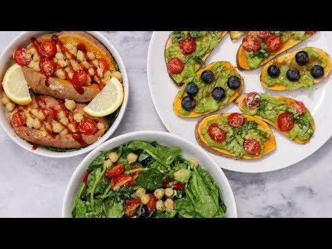 3 Easy Vegan MICROWAVE Meals (Dorm Room Friendly)