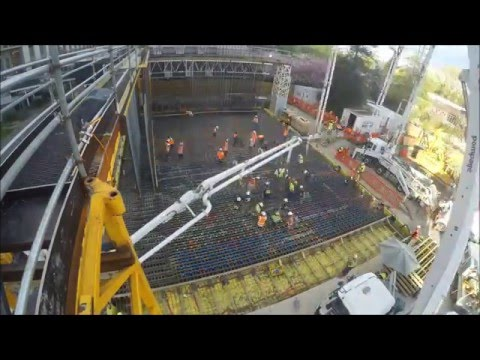 Dominion Constructors - UC Structural Engineering Laboratory Floor Slab Pour
