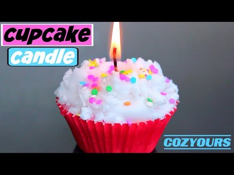 DIY Cupcake Candle using CozYours! How to Make Cupcake Candles!