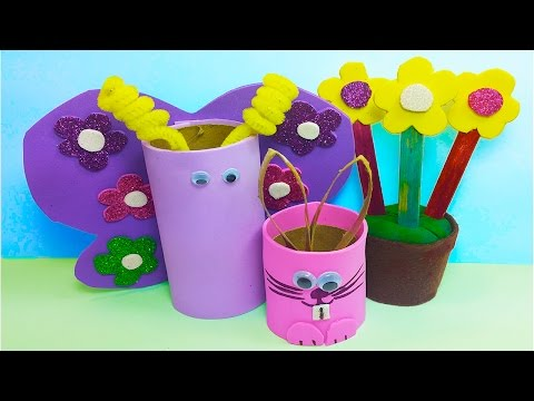 DIY: How to Make 3 Cute Handmade Spring time / Easter Crafts for Kids!