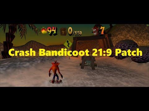 Crash Bandicoot 21:9 Widescreen patch!