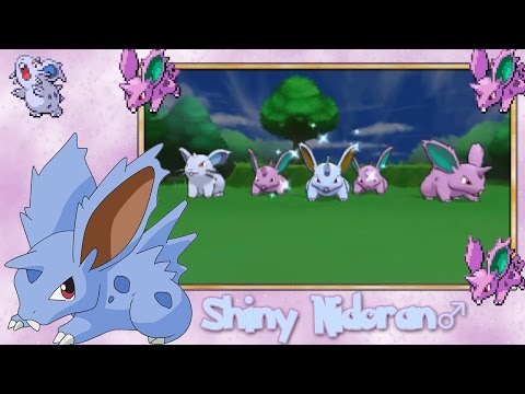 Live Shiny Nidoran Male 32 Horde Encounters - Pokemon X & Y