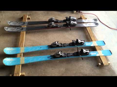 Homemade car roof ski rack from existing roof rails--cheap and ghetto (Honda Odyssey minivan)