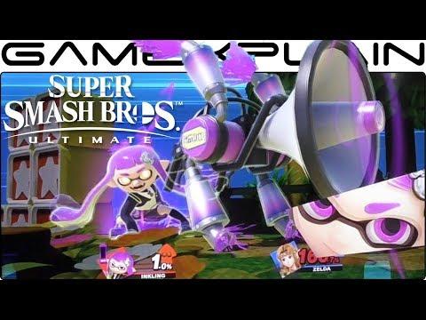 Super Smash Bros. Ultimate 1 vs 1 Gameplay - Zelda vs. Inkling on Melee's Green Greens