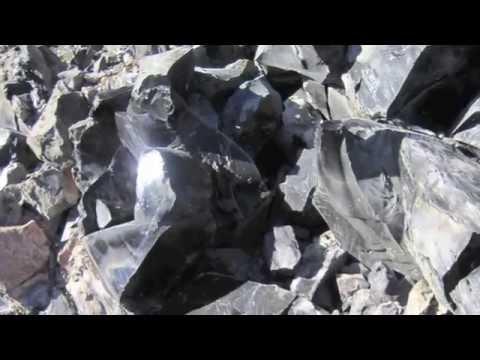 Obsidian Flow Newberry Caldera, OR