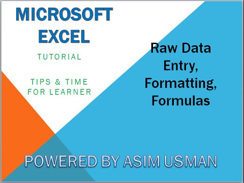 How to use Excel - Data Entry - Microsoft Excel Tutorials