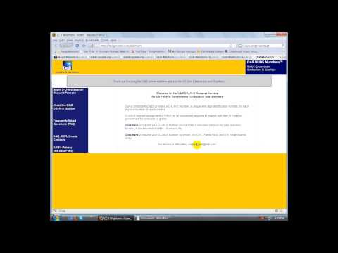 How to get  a Duns Number Video Tutorial - eSRS Training