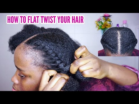 Learn how to flat twist your own hair | Easy to follow tutorial.