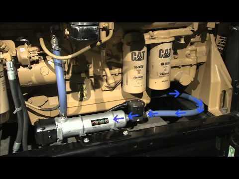 Hotstart engine heater installation