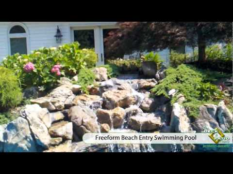 Freeform Beach Entry Swimming Pool | The Deck and Patio Company | Long Island, NY