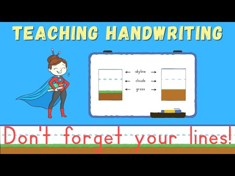 Teaching Handwriting to Children: Don't Forget Your Lines!