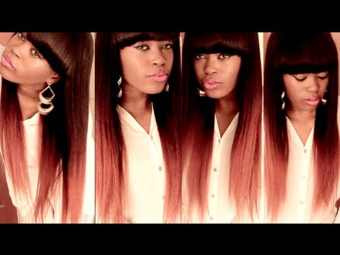 DIY: Burgundy/Auburn Ombre Hair Color Tutorial Using A Chinese Bang WIg By RPGShow