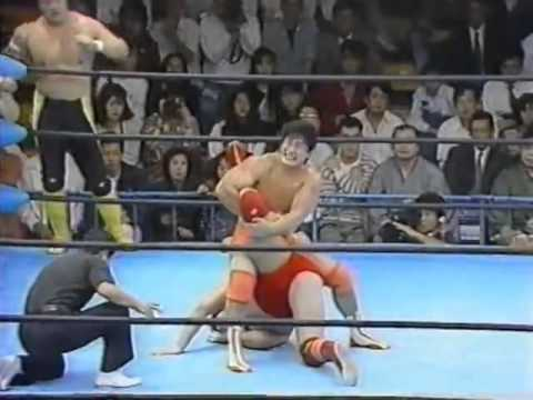 AJPW: Jumbo Tsuruta, Akira Taue, Masanobu Fuchi vs. Mitsuharu Misawa, Toshiaki Kawada, Kenta Kobashi