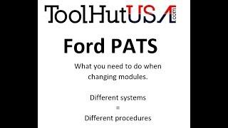 Ford PATS Key Relearn procedure & PATS info
