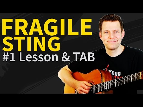 How To Play Fragile Guitar Lesson & TAB #1 Sting Tutorial