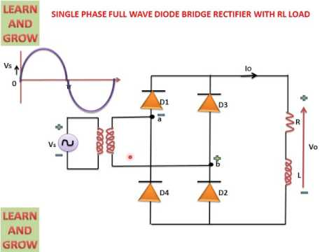 SINGLE PHASE FULL WAVE DIODE BRIDGE RECTIFIER WITH RL LOAD(हिन्दी ) !LEARN AND GROW !