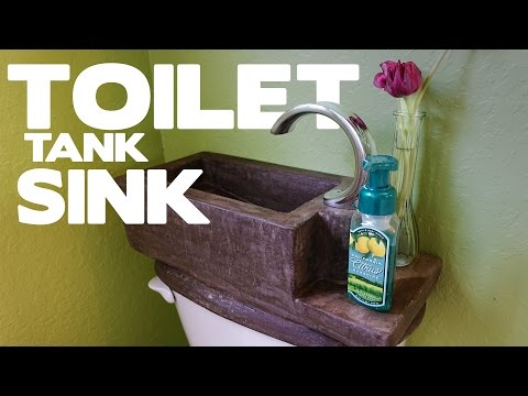 DIY Concrete Toilet Tank Sink - This SHOULD Be On Every Toilet!