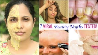7 VIRAL Beauty Myths TESTED ft. Shy Styles | #Skincare #Haircare #ShrutiArjunAnand