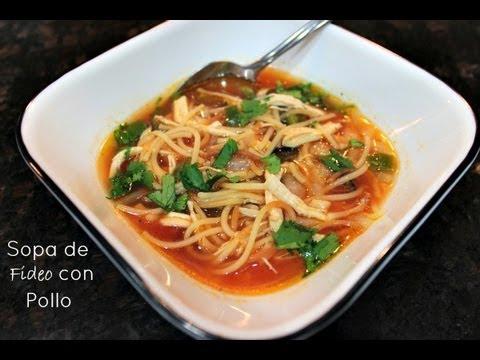 Sopa de Fideo con Pollo con Hunt's. #MamaSabeMas -SORTEO