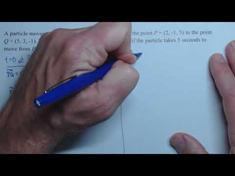 finding parametric equations between 2 points given time to get between points
