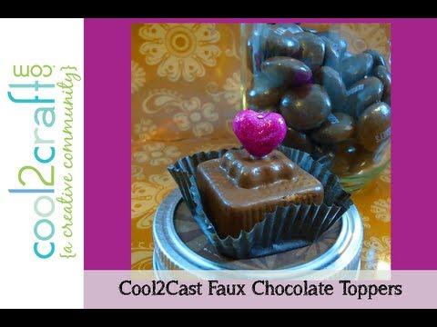 How to Make Cool2Cast Faux Chocolates for Jar Topper by Candace Jedrowicz