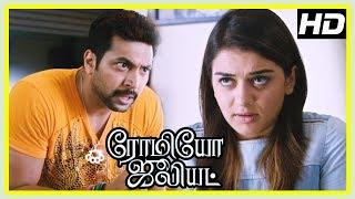 Romeo Juliet Movie Scenes | Vamsi Krishna surprises Hansika | Jayam Ravi troubles Hansika