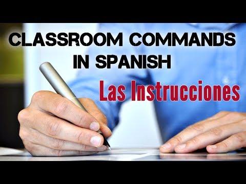 Classroom Commands in Spanish - Los Mandatos en Español